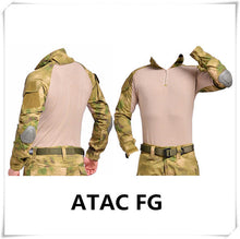 Camouflage military uniform us army combat shirt cargo multicam military tactical clothing with knee pads