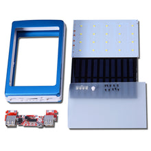 Universal 5V PCBA Motherboard Solar Power Bank Case DIY Box Dual USB 20Pcs LED 5x18650 Solar Powerbank DIY KIT No Battey