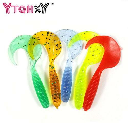 5pcs/lot Wobbler Jigging Fishing Lure Soft Worm Shrimp 2g 6.5cm silicone bait Fish Ocean Rock fishing tackle