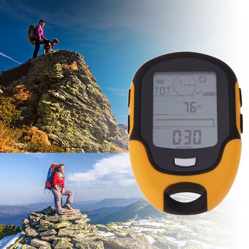 Portable Outdoor Camping  Altimeter Waterproof FR500 Multifunction Running Swimming LCD Digital Altimeter Barometer Compass
