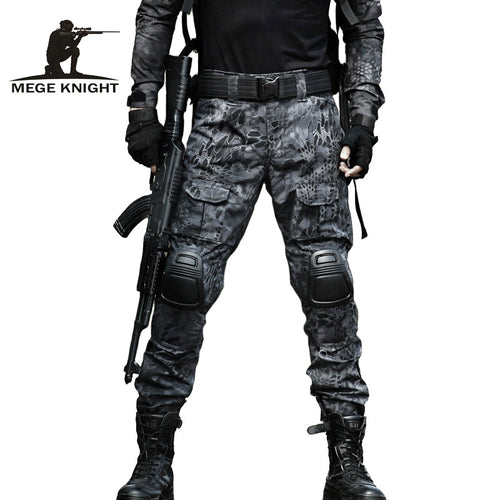 MEGE 13 camouflage color Tactical clothing army of combat uniform military pants with knee pad clothes