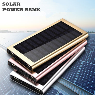 Solar Power Bank Mi 2 USB Power Bank 20000mAh External Battery Portable Charger Bateria Externa Pack for Mobile phone