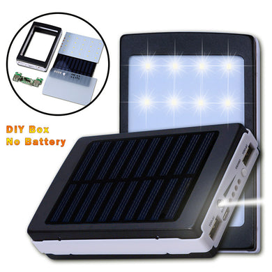 Universal 5V PCBA Motherboard Solar Power Bank Case DIY Box Dual USB with 20Pcs LED 5x18650 Solar Powerbank DIY KIT