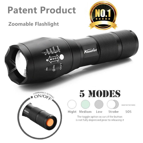 USA E17/G700 XML T6 4000LM Tactical cree led Torch Zoomable LED Flashlight Torch light for AAA or 18650 Rechargeable battery