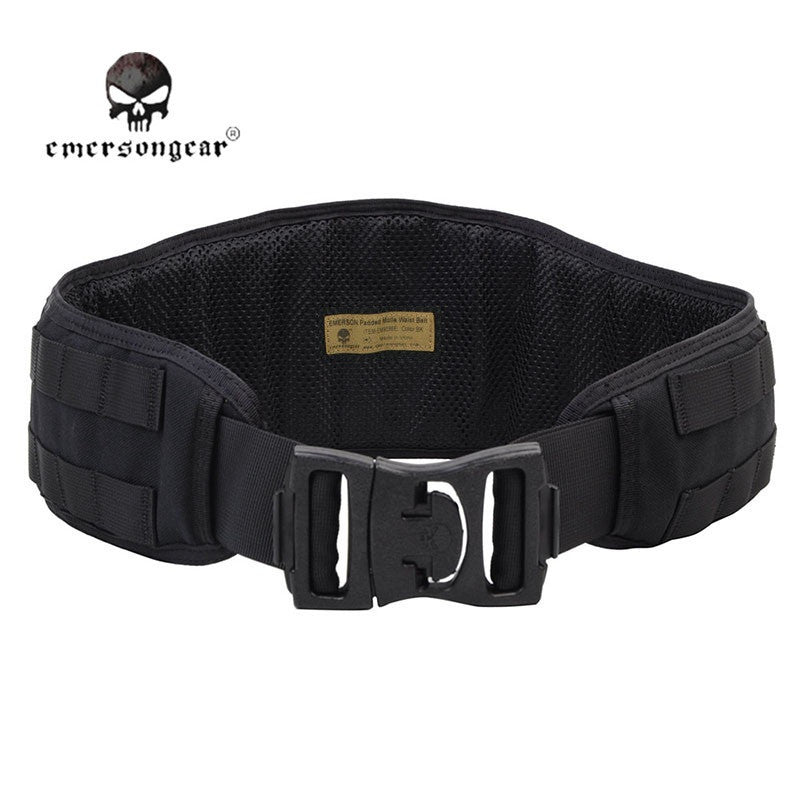 Emerson Tactical Padded Nylon Molle Waist Belt Men Combat Army Battle Belt Cummerbunds Padded Belt