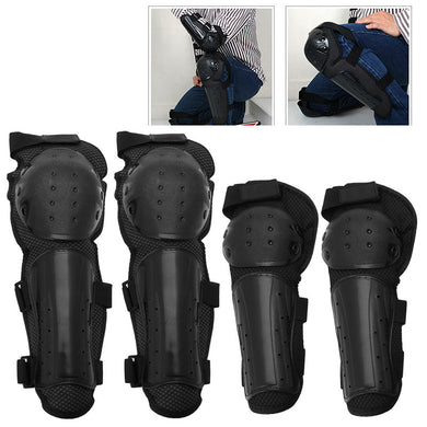 4Pcs Knee Support Motorcycle Knee Protector Brace Protection Elbow Pad Kneepad