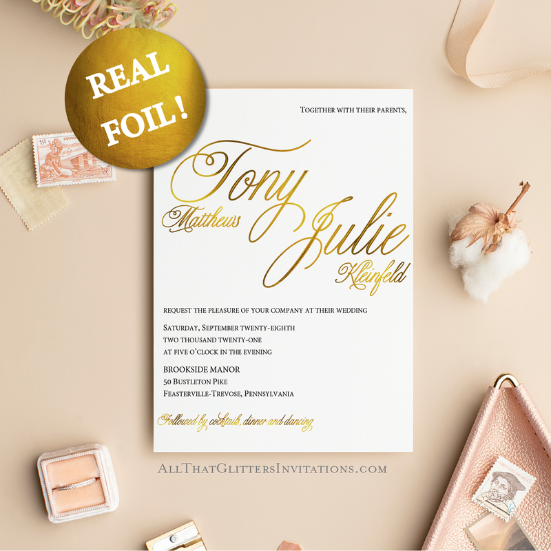 Wedding Invitations By All That Glitters Invitations