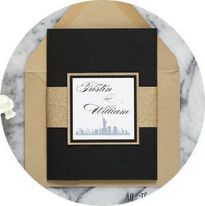New York Themed Wedding Invitation