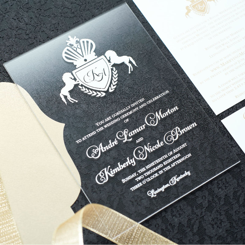 Acrylic Wedding Invitation - All That Glitters Invitations
