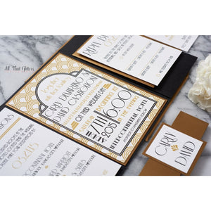 Art-Deco Suite | Wedding Invitation - All That Glitters Invitations