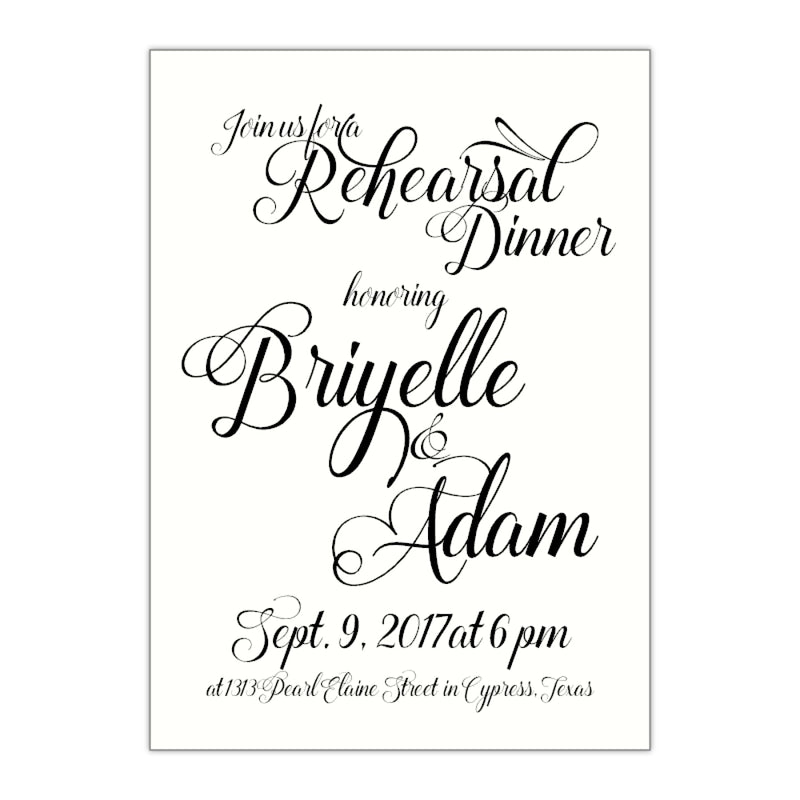 Beauty and the Beast Fancy Rehearsal Dinner Invitation, Briyelle - All That Glitters Invitations