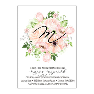 Bouquet Bridal Shower Invitation, Megan - All That Glitters Invitations