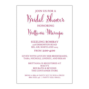 Brittania | Bridal Shower Invitation - All That Glitters Invitations