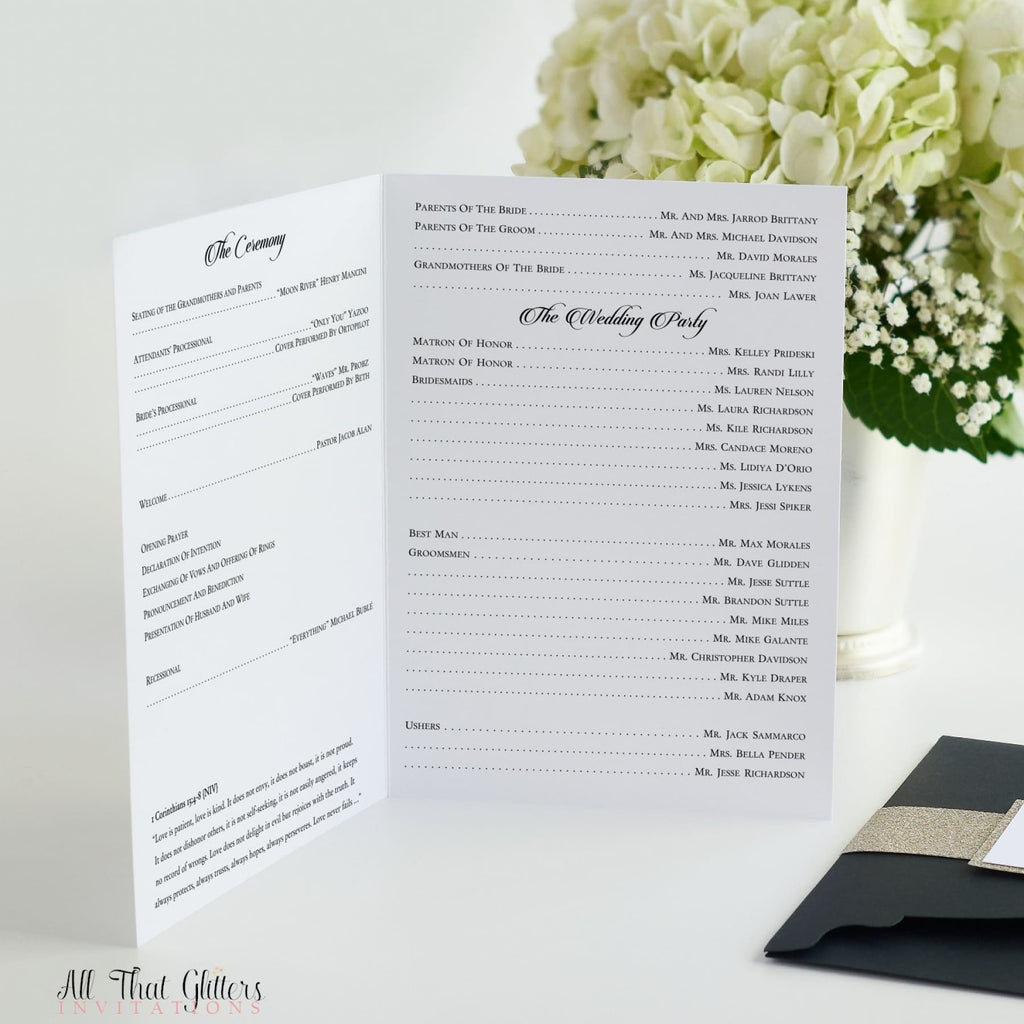 Ceremony Program, Bi-Fold Booklet - All That Glitters Invitations