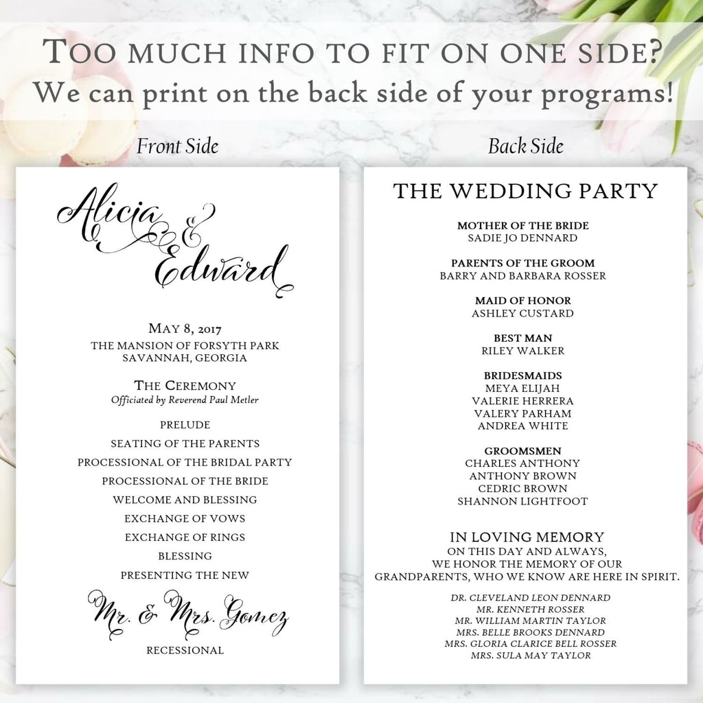 Ceremony Program, Flat - All That Glitters Invitations