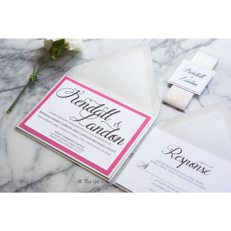 Classic Wedding Invitation, Kendall - All That Glitters Invitations