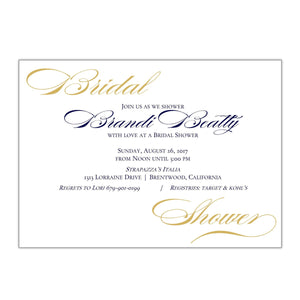 Elegant Bridal Shower Invitation - All That Glitters Invitations