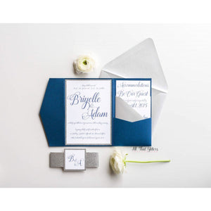 Enchanted Wedding Invitation, Briyelle - All That Glitters Invitations