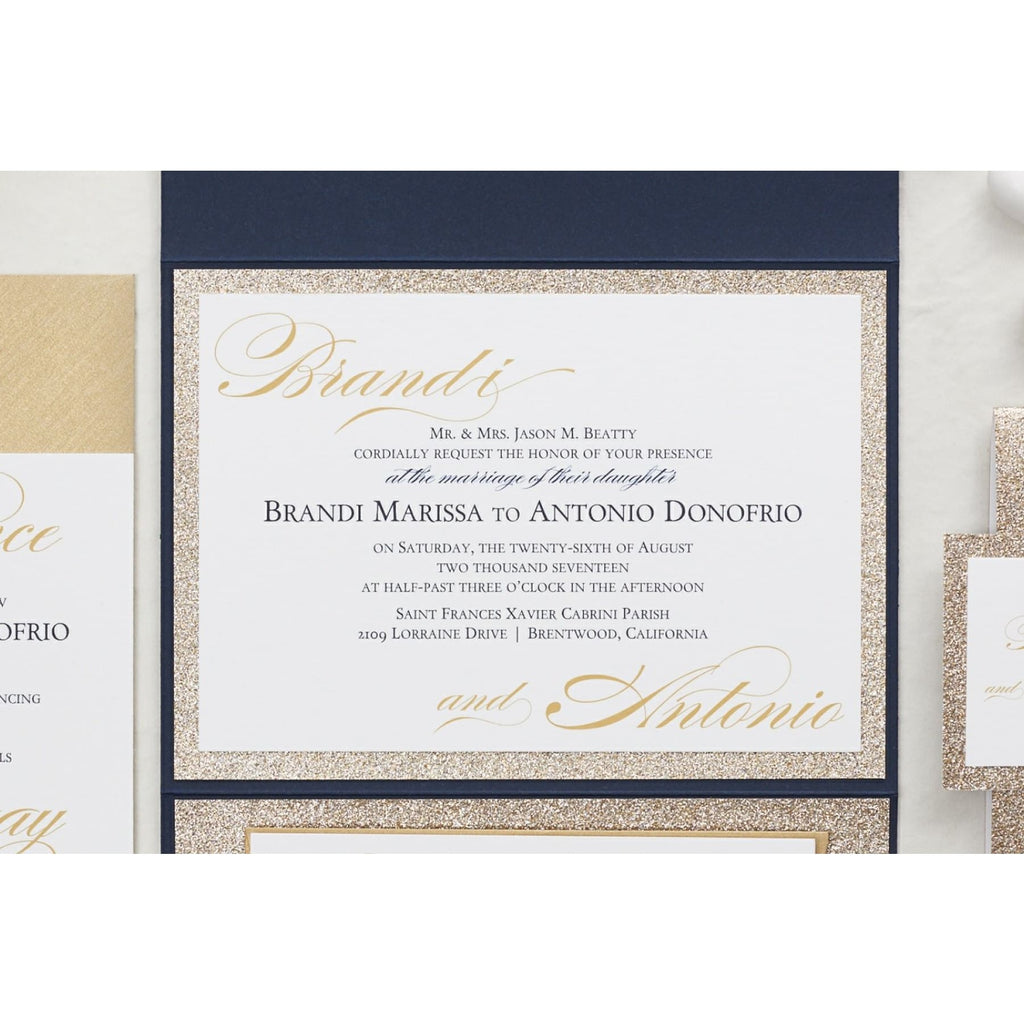 Extra Glitter Wedding Invitation, Brandi - All That Glitters Invitations