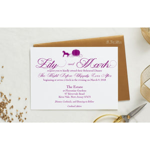 Fairy tale Rehearsal Dinner Invitation, Lillianna - All That Glitters Invitations