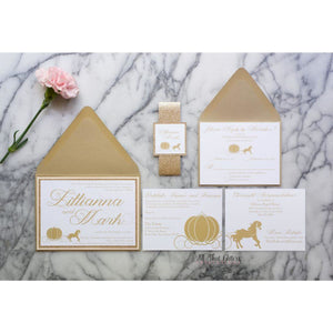 Fairy Tale Wedding Invitation, Lillianna - All That Glitters Invitations