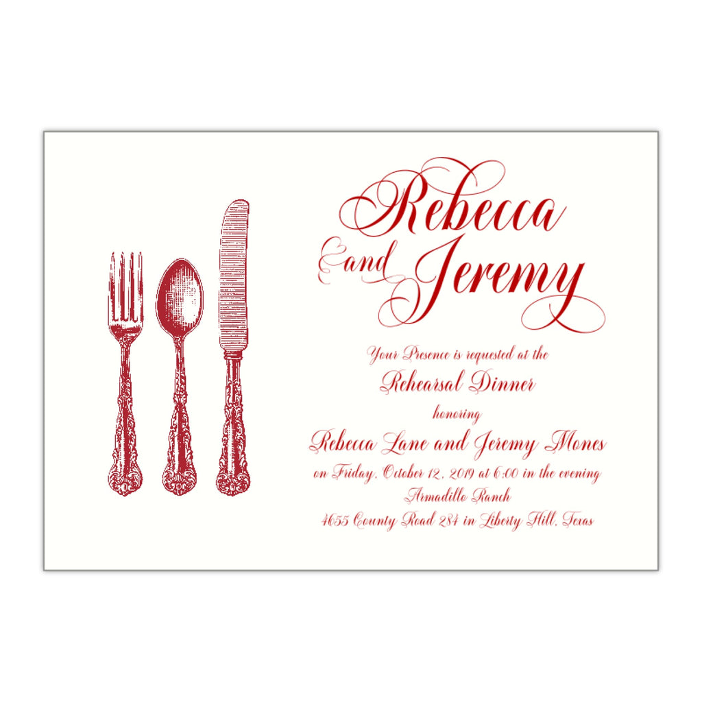 Fancy Rehearsal Dinner Invitation, Rebecca - All That Glitters Invitations