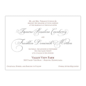 Fancy Script Wedding Invitation, Tamera - All That Glitters Invitations