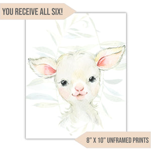 "Farm Animal Nursery Art Print, 8"" x 10"" - All That Glitters Invitations"