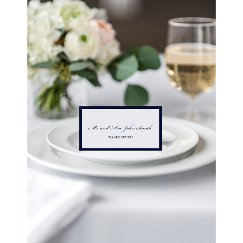 Flat Backed Wedding Reception Place Cards - All That Glitters Invitations