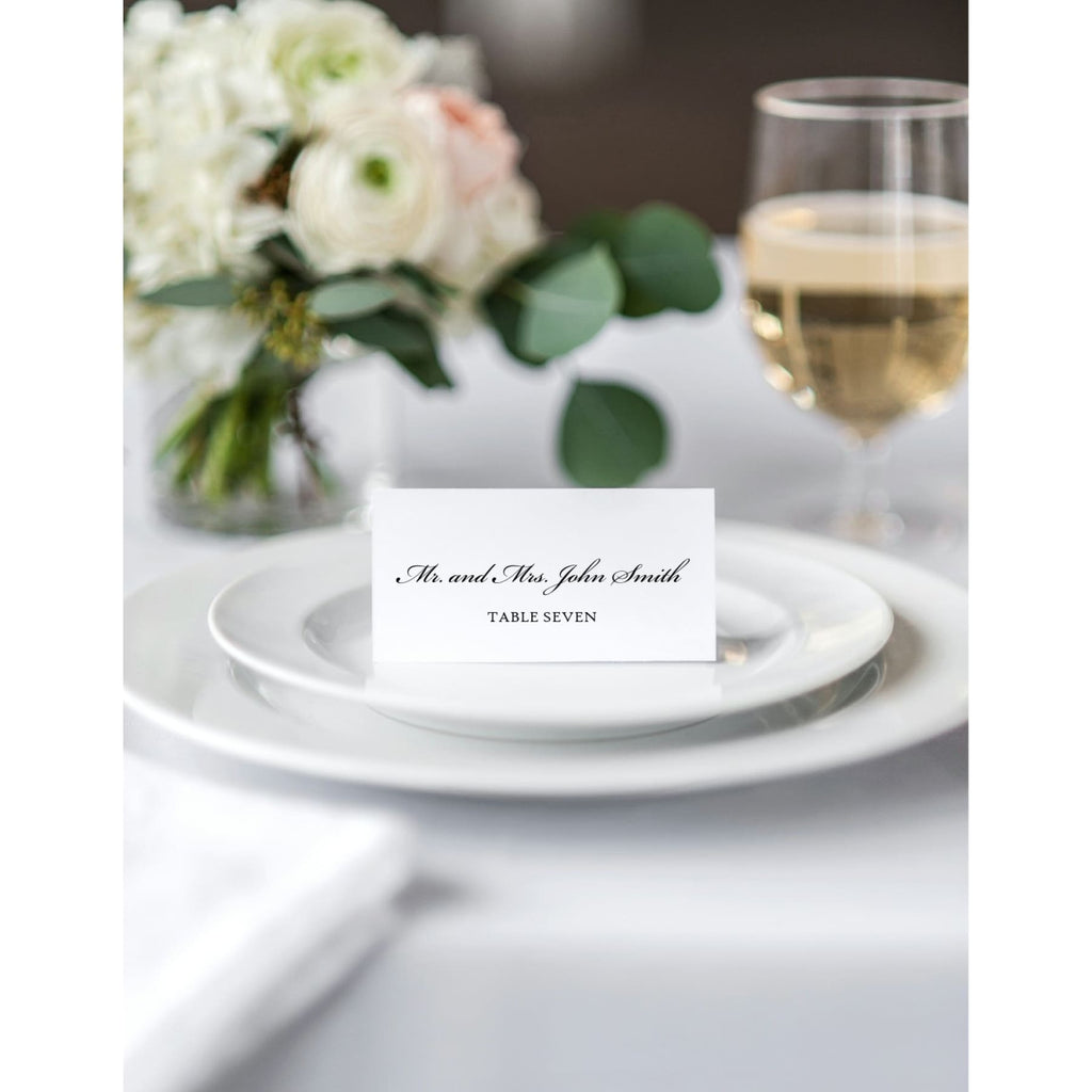Flat Wedding Reception Place Cards - All That Glitters Invitations