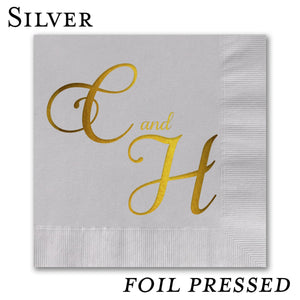 Foil Stamped Beverage Napkins - All That Glitters Invitations