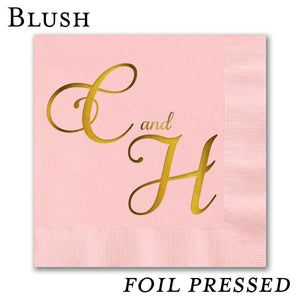 Foil Stamped Luncheon Napkins - All That Glitters Invitations