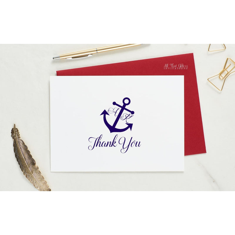 Folded Thank You Card, Ariana Style 1 - All That Glitters Invitations