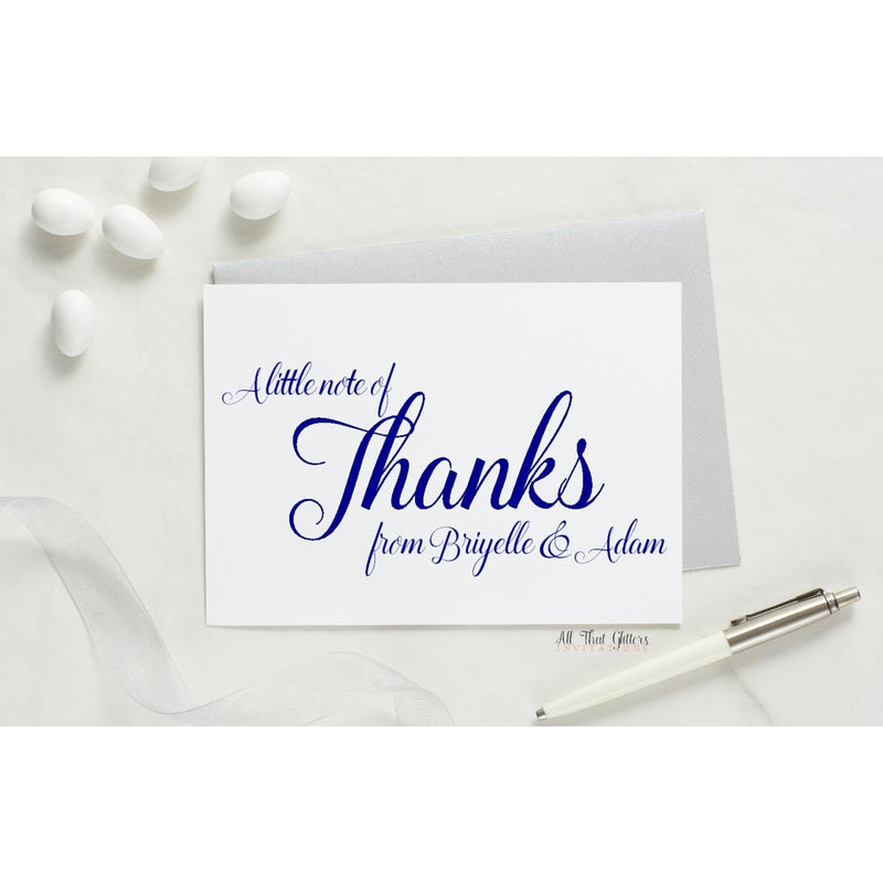 Folded Thank You Card, Briyelle Style 1 - All That Glitters Invitations