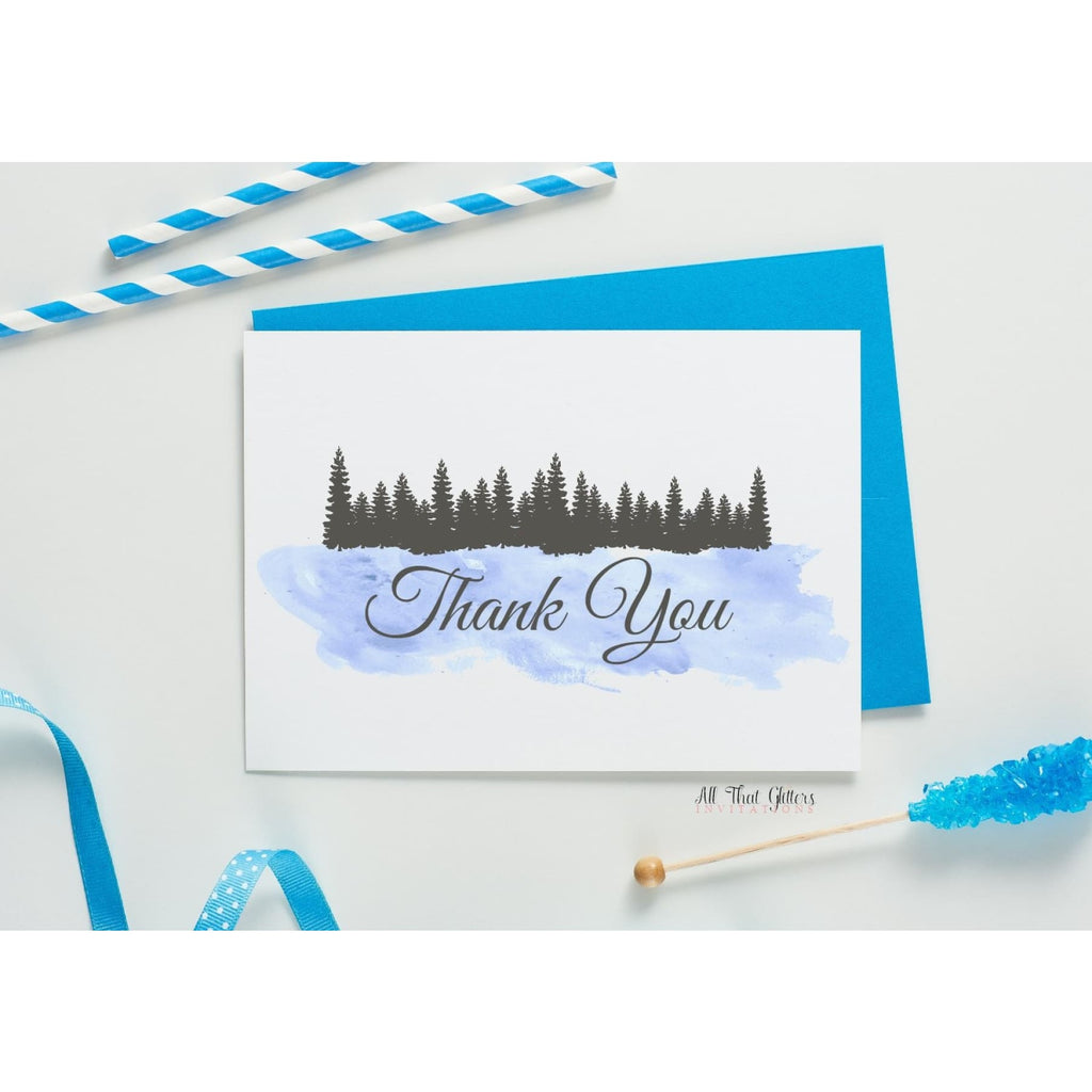 Folded Thank You Card, Caroline Style 1 - All That Glitters Invitations