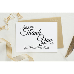 Folded Thank You Card, Evelyn Style 1 - All That Glitters Invitations