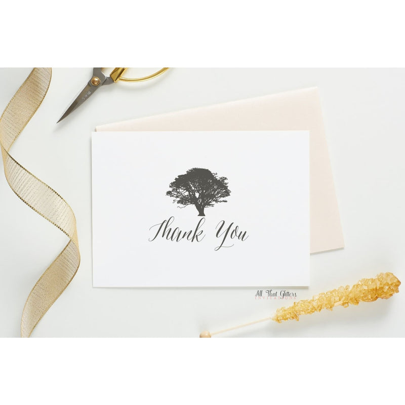 Folded Thank You Card, Gabriella - All That Glitters Invitations
