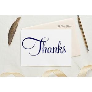 Folded Thank You Card, Hayley - All That Glitters Invitations