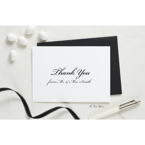Folded Thank You Card, Heather Style 1 - All That Glitters Invitations