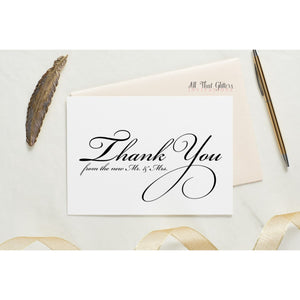 Folded Thank You Card, Heather Style 2 - All That Glitters Invitations