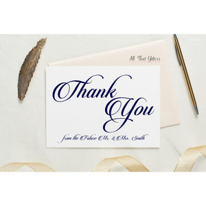 Folded Thank You Card, Karalin Style 1 - All That Glitters Invitations