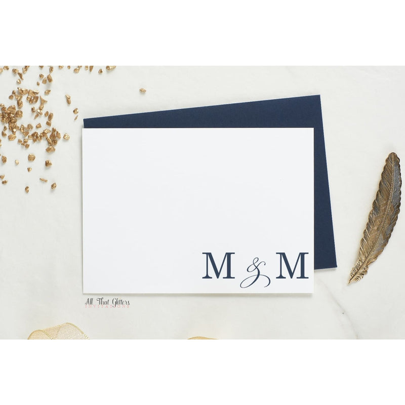 Folded Thank You Card, Melanie Style - All That Glitters Invitations