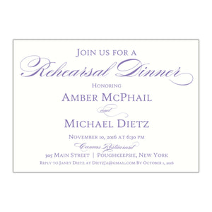 Formal Rehearsal Dinner Invitation, Amber 1 - All That Glitters Invitations