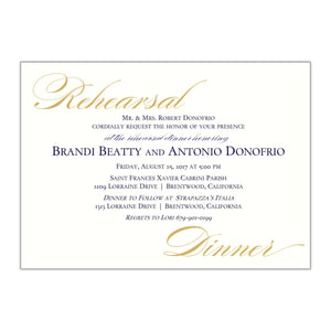 Formal Rehearsal Dinner Invitation, Brandi - All That Glitters Invitations