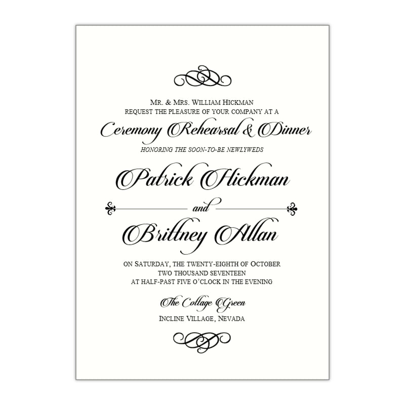 Formal Rehearsal Dinner Invitation, Brittney - All That Glitters Invitations