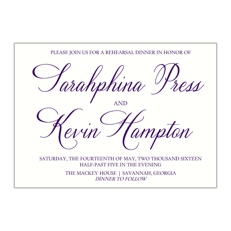 Formal Rehearsal Dinner Invitation, Sarahphina - All That Glitters Invitations