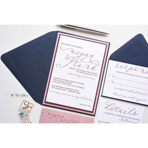 Handwritten Wedding Invitation, Megan - All That Glitters Invitations
