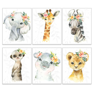 "Jungle Animal Nursery Art Print, 8"" x 10"" - All That Glitters Invitations"