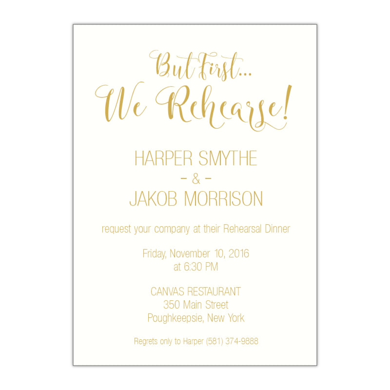 Modern Rehearsal Dinner Invitation, Harper - All That Glitters Invitations