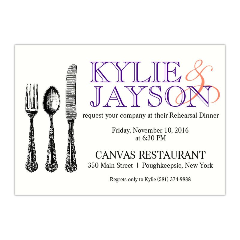 Modern Rehearsal Dinner Invitation, Kylie - All That Glitters Invitations